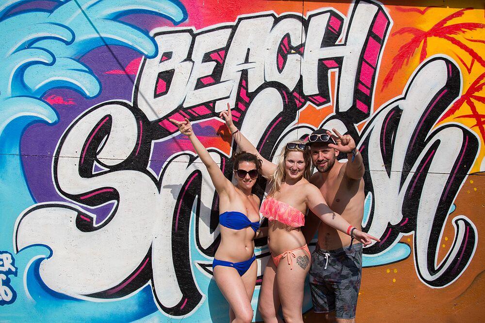 beach splash