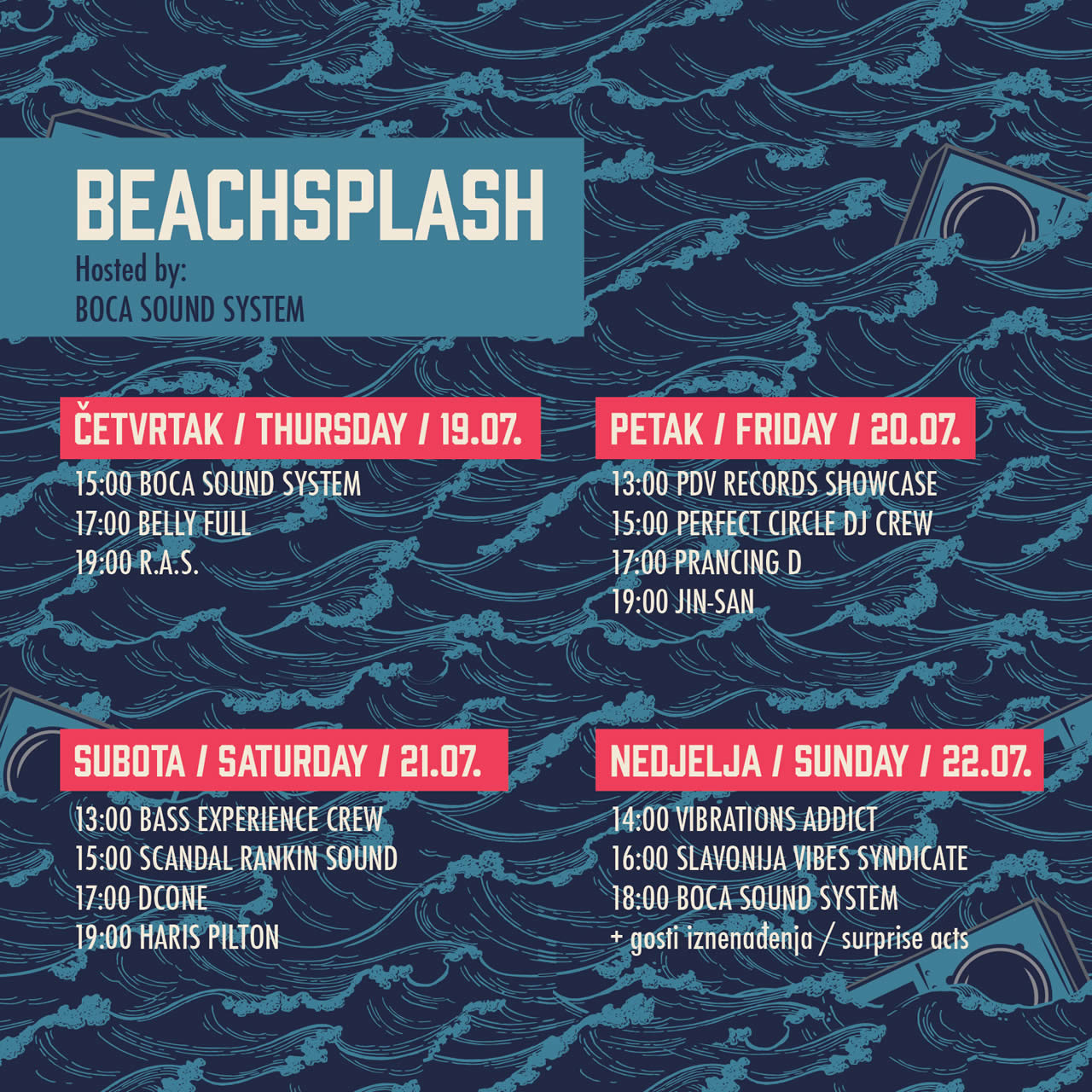 BeachSplash 2018 Schedule