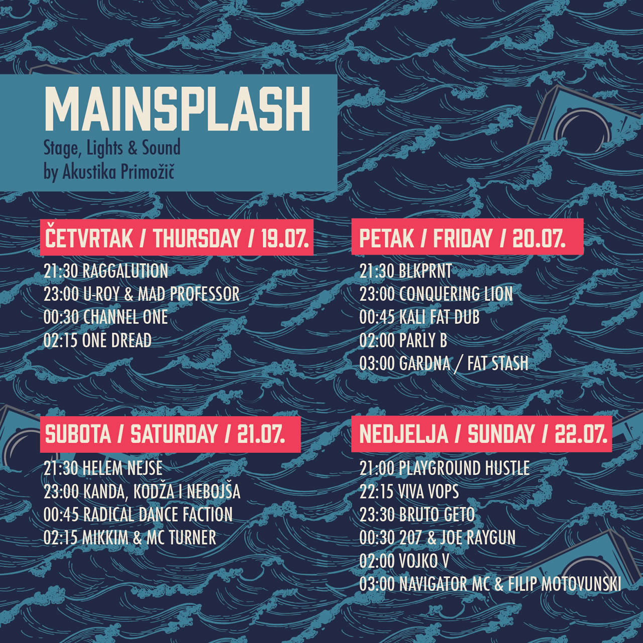MainSplash 2018 Schedule
