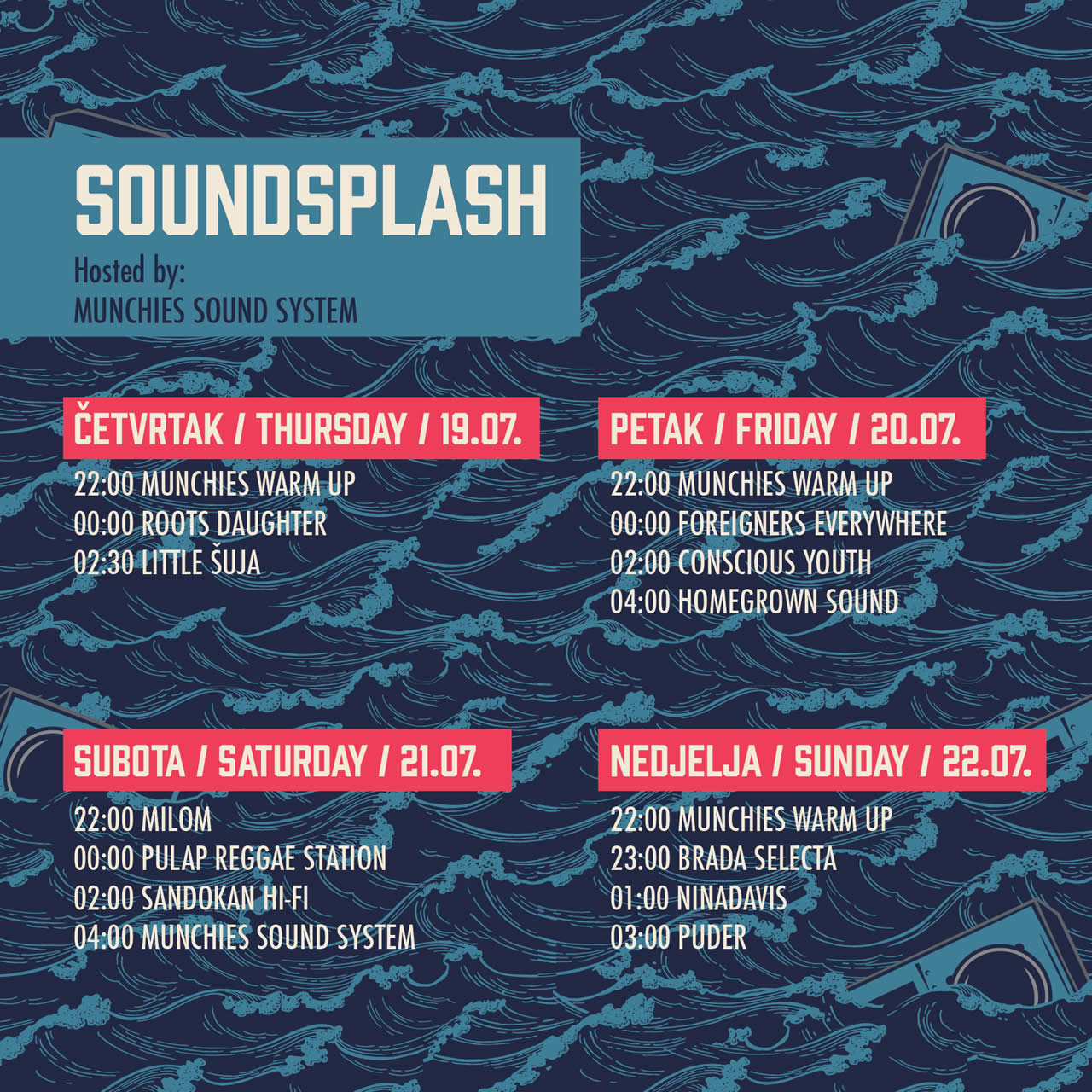 SoundSplash 2018 Schedule