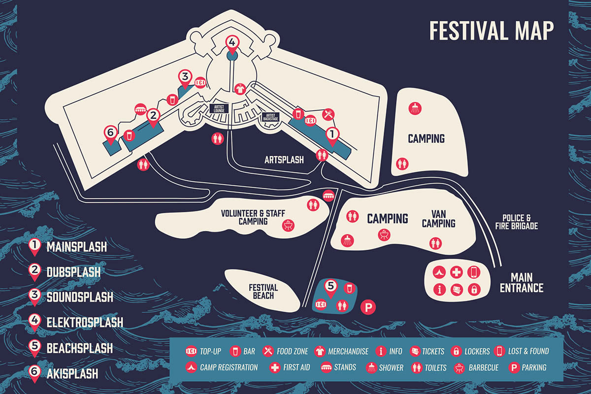 Seasplash Festival Map