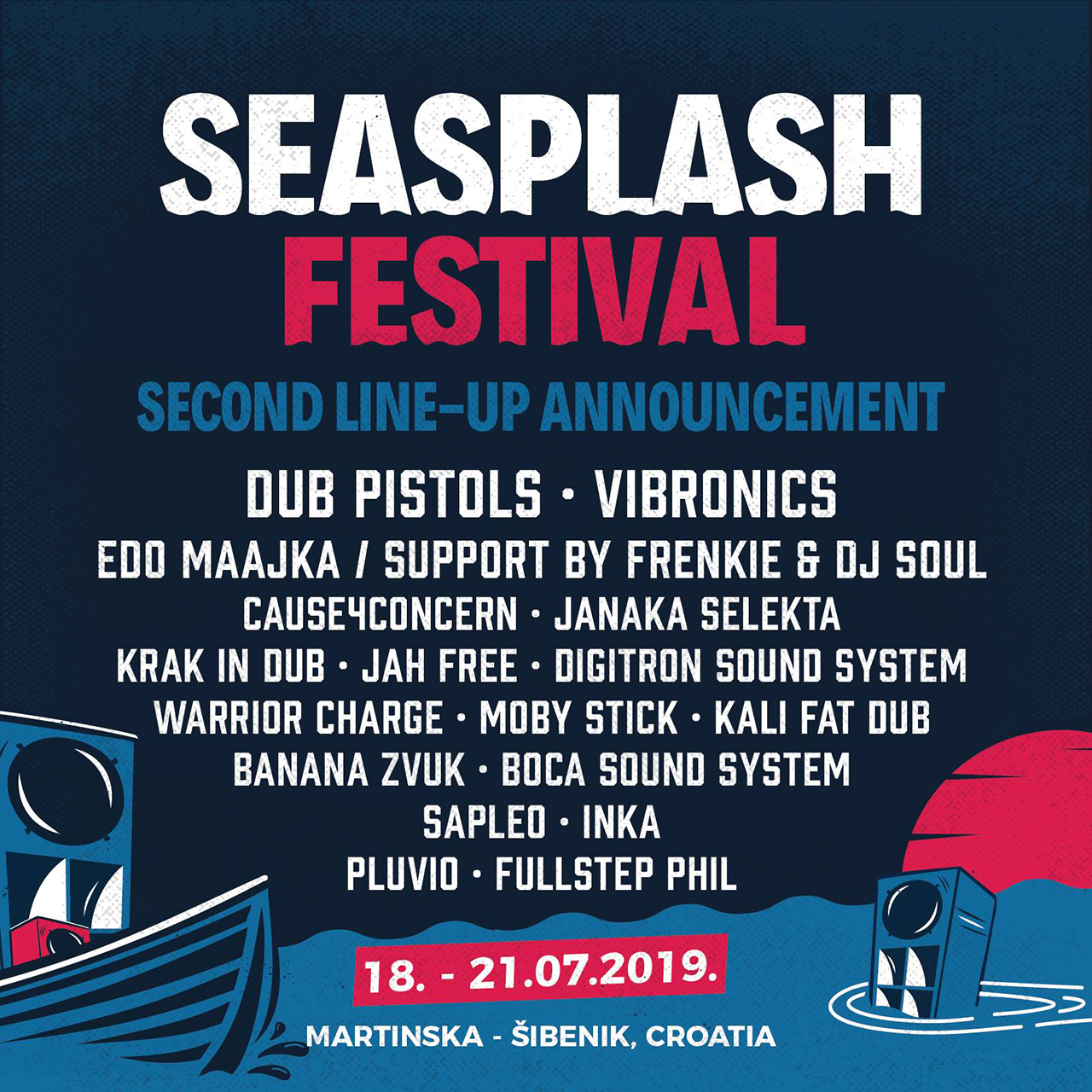 Seasplash 2019 - 2nd Line-up Announcement