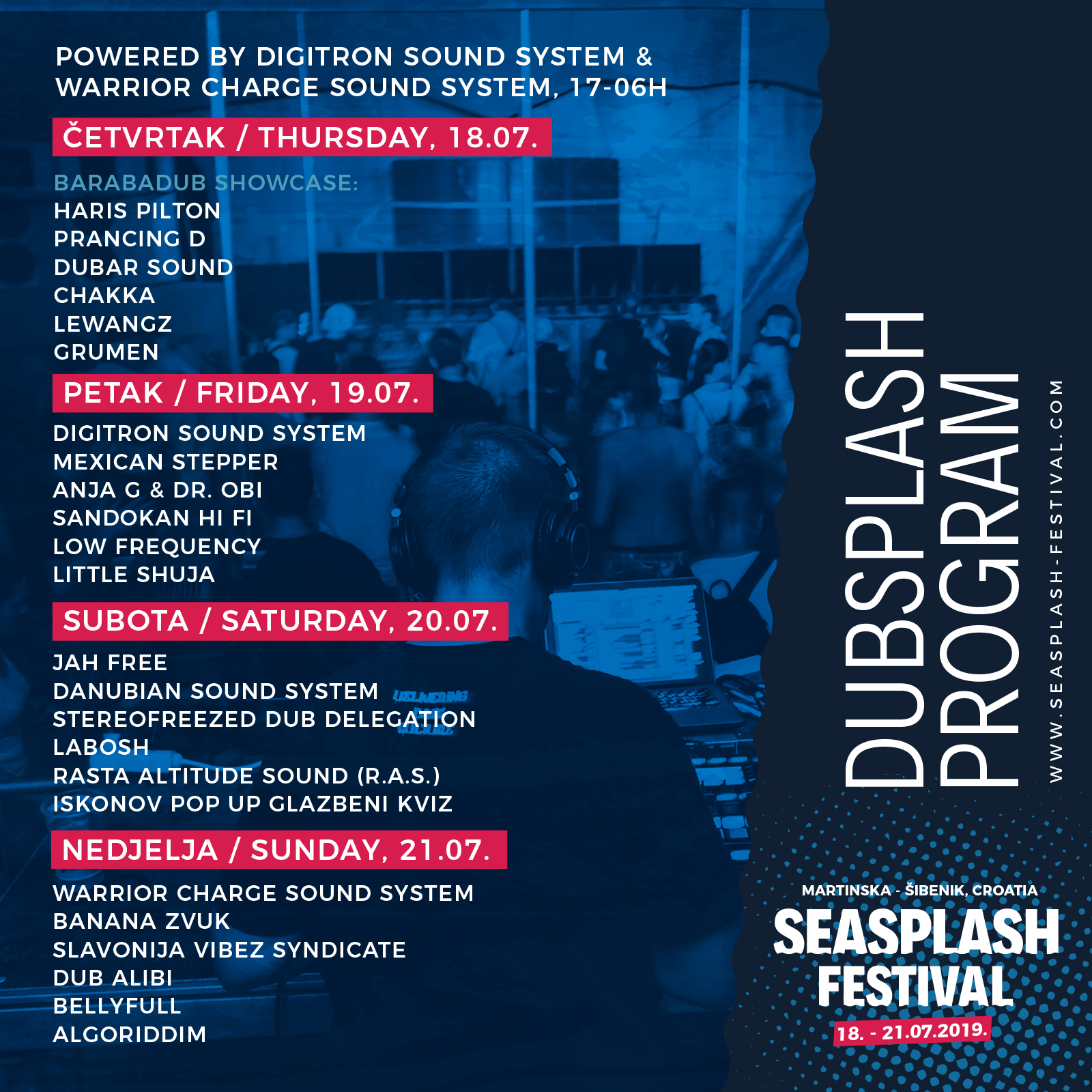 Novih 20 imena Seasplash festivala, raspored DubSplash i SoundSplash pozornica te ArtSplash